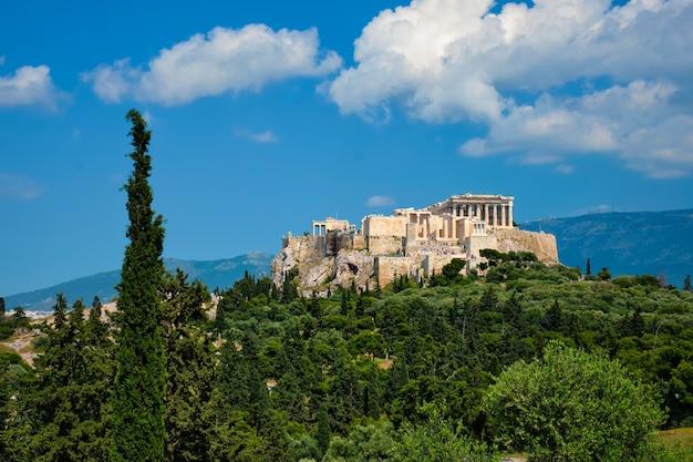 그리스 아테네 아크로 폴리스에있는 상징적 인 파르테논 신전