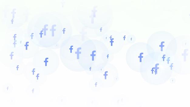 Иконки социальной сети facebook на простом фоне