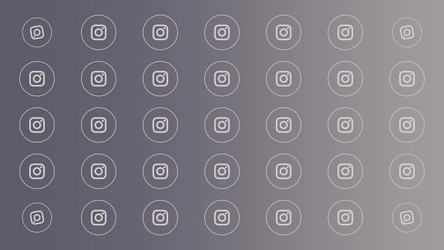 Иконки социальной сети instagram на простом фоне