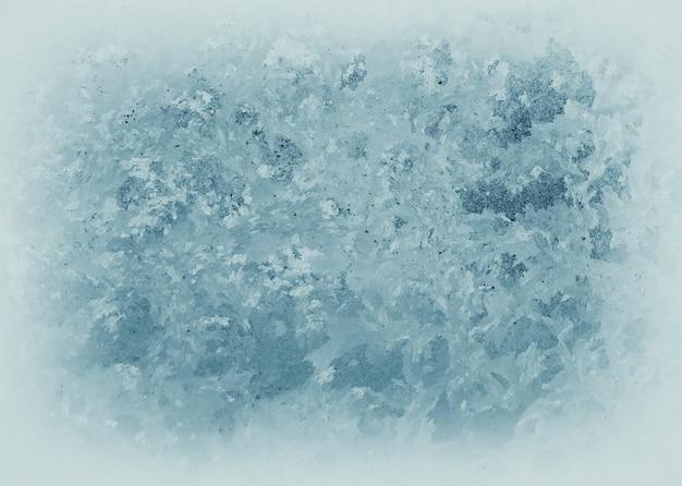 Ледяной узор на замороженном окне. текстура замороженной воды.