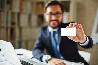 Idea blank job closeup executive