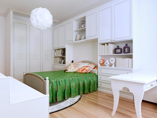 Idea of classic style bedroom of bright colors.
