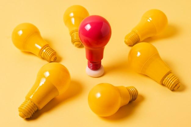 Идея концепции с лампочкой