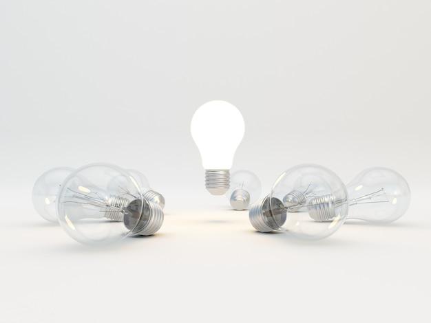 Идея концепции с лампочками