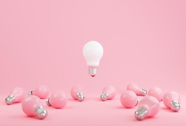 Идея символ лампочки на пастели