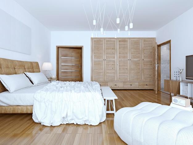 Идея просторной спальни-чердака.