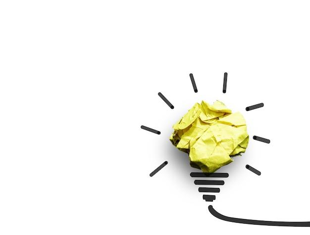 電球の形をしたアイデアペーパー