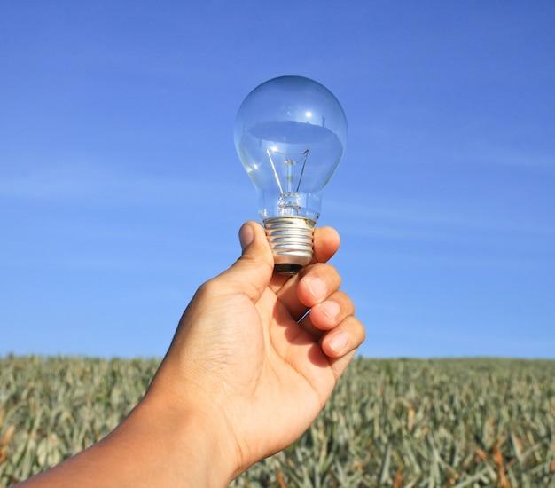 Idea transparent bulb innovation equipment