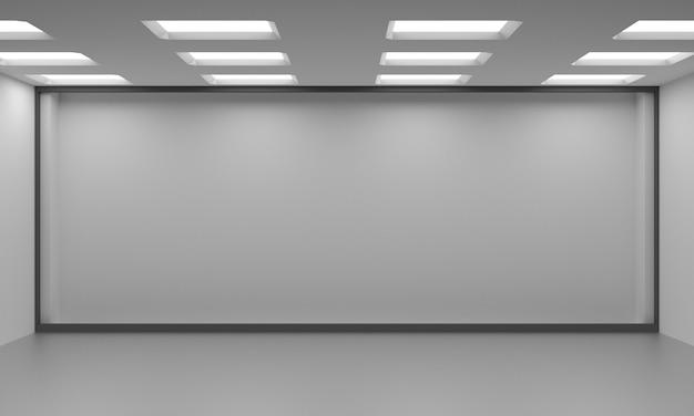 Idea of a white empty scandinavian room interior.