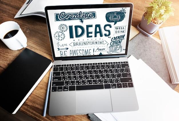 アイデアクリエイティブミッション戦略ビジョンコンセプト