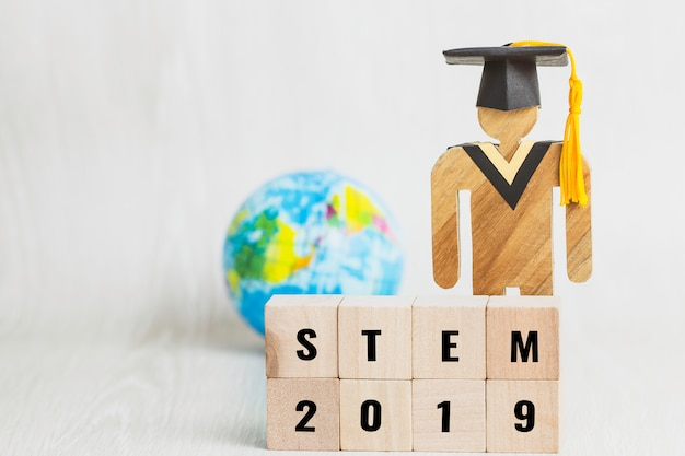 Ideas for stem education about science, technology, engineering, mathematics word