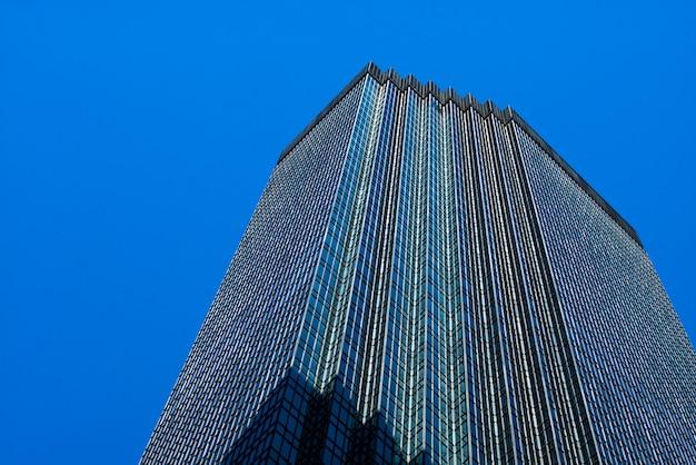 米国ミネソタ州ヘネピン郡ダウンタウンのミネアポリスダウンタウンのidsセンタータワーの低角度図