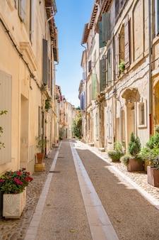 Idyllic street in arles france