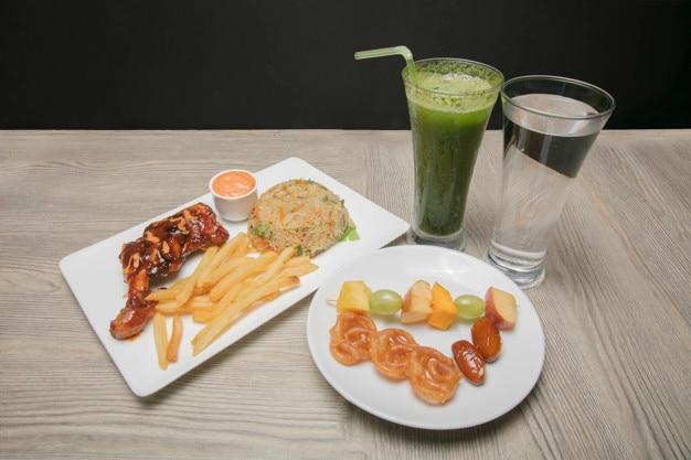 Iftar food platter
