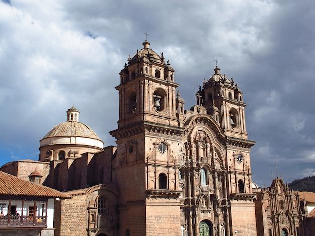 イグレシアデラコンパニアデジーザス、クスコ、ペルーの古代教会