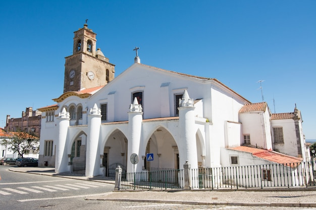 Igreja de santa maria, exterior of the church, beja, portugal.