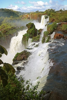 Iguazu falls at the argentinian side, misiones province of argentina