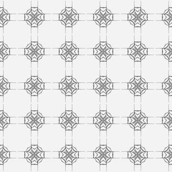 イカット繰り返し水着デザイン。黒と白の上品な自由奔放に生きるシックな夏のデザイン。タイルの境界線を繰り返す水彩画の絣。テキスタイルレディの形の良いプリント、水着生地、壁紙、ラッピング。
