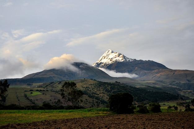 Ilinizas volcano in ecuador
