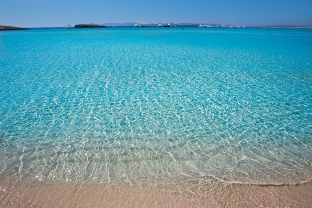 Illetes illetas beach in formentera balearic islands