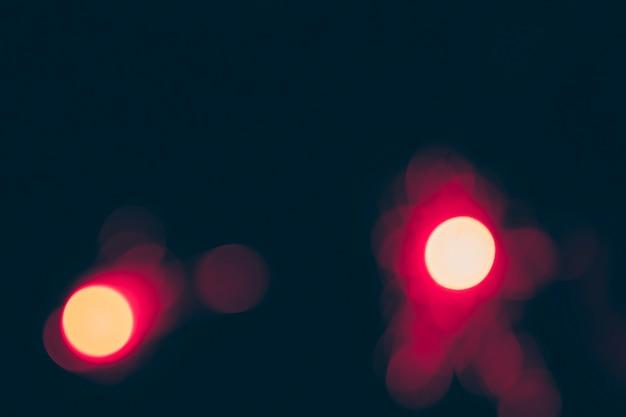 Illuminated bokeh background at night