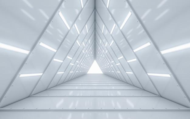 Illuminated corridor interior design