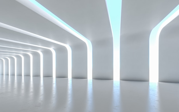 Illuminated corridor interior design