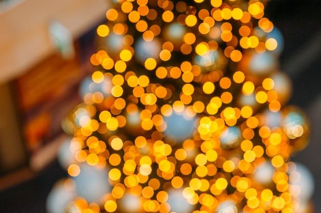 Illuminated string lights and bokeh