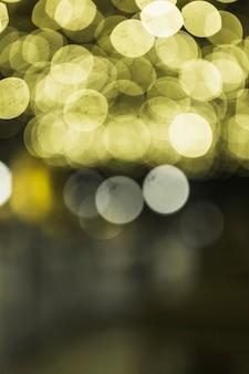 Illuminated yellow transparent defocused background