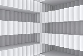 ランダムな灰色の階段壁の背景の錯覚。
