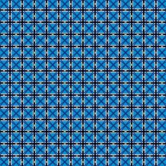 Иллюстрированный синий узор в клетку фон