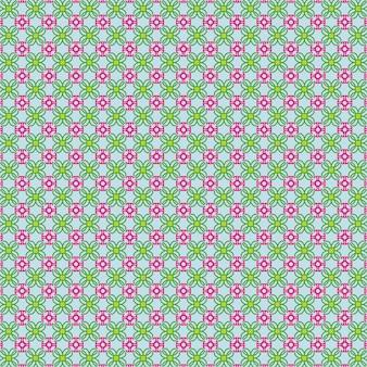 Иллюстрированный узор с розовыми цветами и зелеными листьями