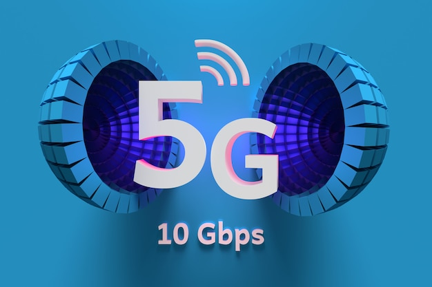 Illustration of 5g new data technology.