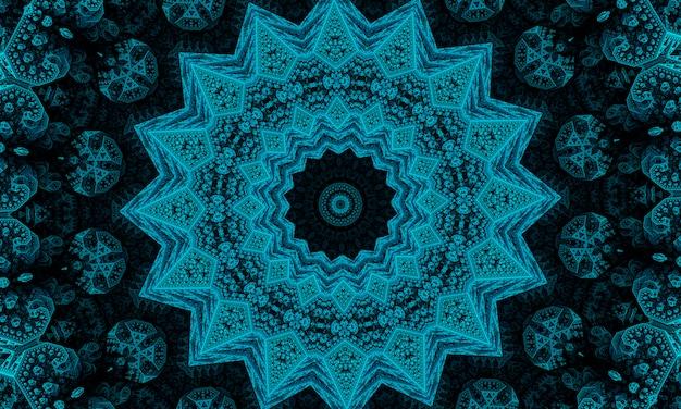Иллюстрация абстрактного калейдоскопического узора нефритового цвета возникла из фотографии зеленых бамбуковых листьев, предназначенных для плитки, обоев, тканей или шарфов.