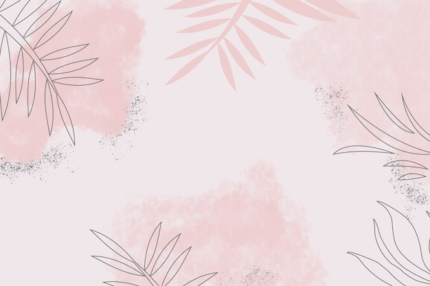 Illustration of abstract pastel color background with nature