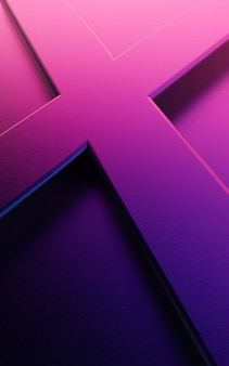 Illustration of abstract vertical background design with crossing lines in purple color
