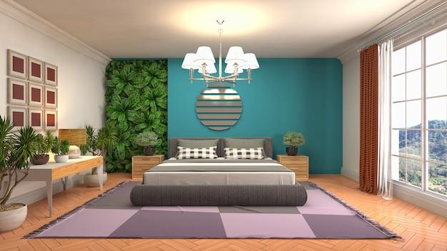 Illustration of the bedroom interior