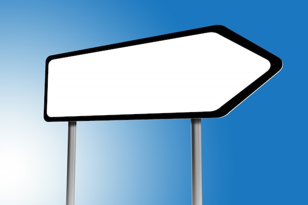 Illustration of blank directions sign