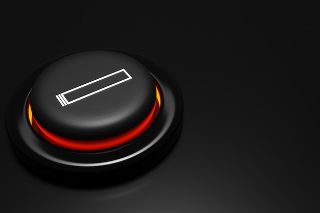 Illustration close up of a round cigarette lighter on black isolated background