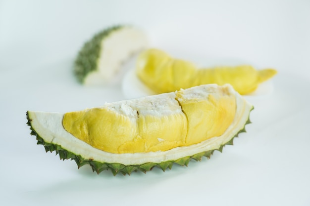 Illustration of durian carcass out of fruit.