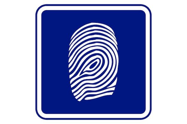 Illustration of a fingerprint on blue background.