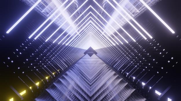 공상 과학 및 기술 혁신 장면의 광고 및 벽지 장식 개념 렌더링 그림
