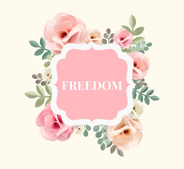 Illustration of freedom and carefree flower