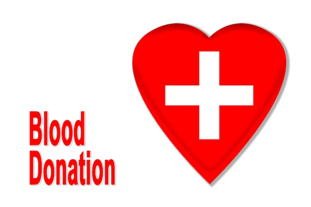 Illustration of a heart to donate blood