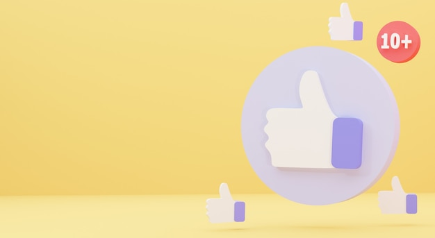 Illustration of a minimalist like notification icon isolated