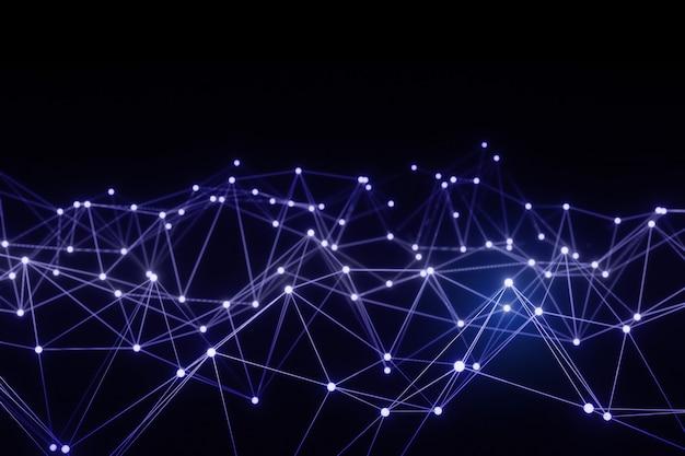 イラストネットワーク接続抽象的な背景