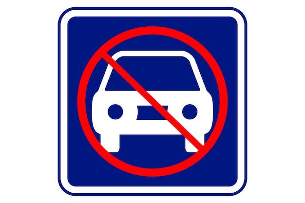 Illustration of no parking on blue background.