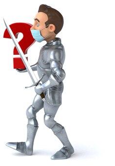 Иллюстрация мультипликационного персонажа с маской