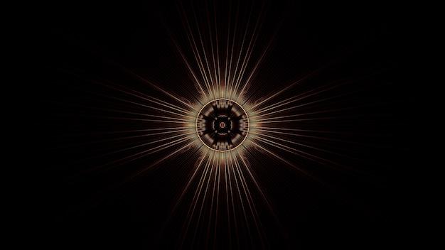 抽象的なネオン光の効果を持つ円のイラスト-未来的な背景に最適