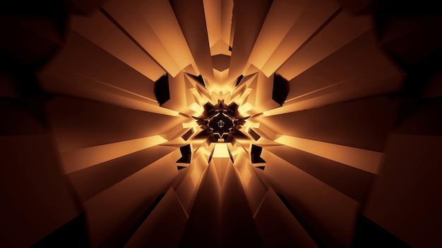 抽象的な輝くネオンライト効果のイラスト-未来的な背景に最適